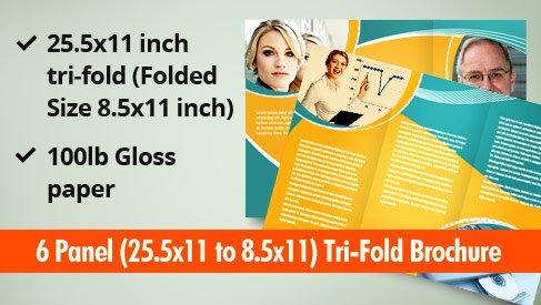 6 panel tri folded brochure printpapa for 8 5x11 tri fold brochure template