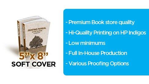 5x8 inches soft cover perfect bound book printing at printpapa printpapa