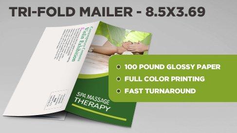 tri fold direct mail postcard 8 5x11 to 8 5x3 69 printpapa