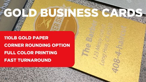 Gold business cards specialty business cards printpapa printpapa business card sample pack colourmoves