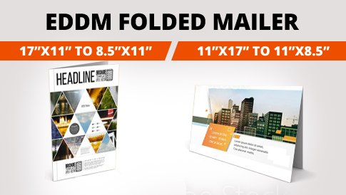 Folded Every Door Direct Mail Postcard 17x11 To 8 5x11