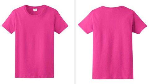 Women shirt template girls pink t shirt template free for Pink t shirt template