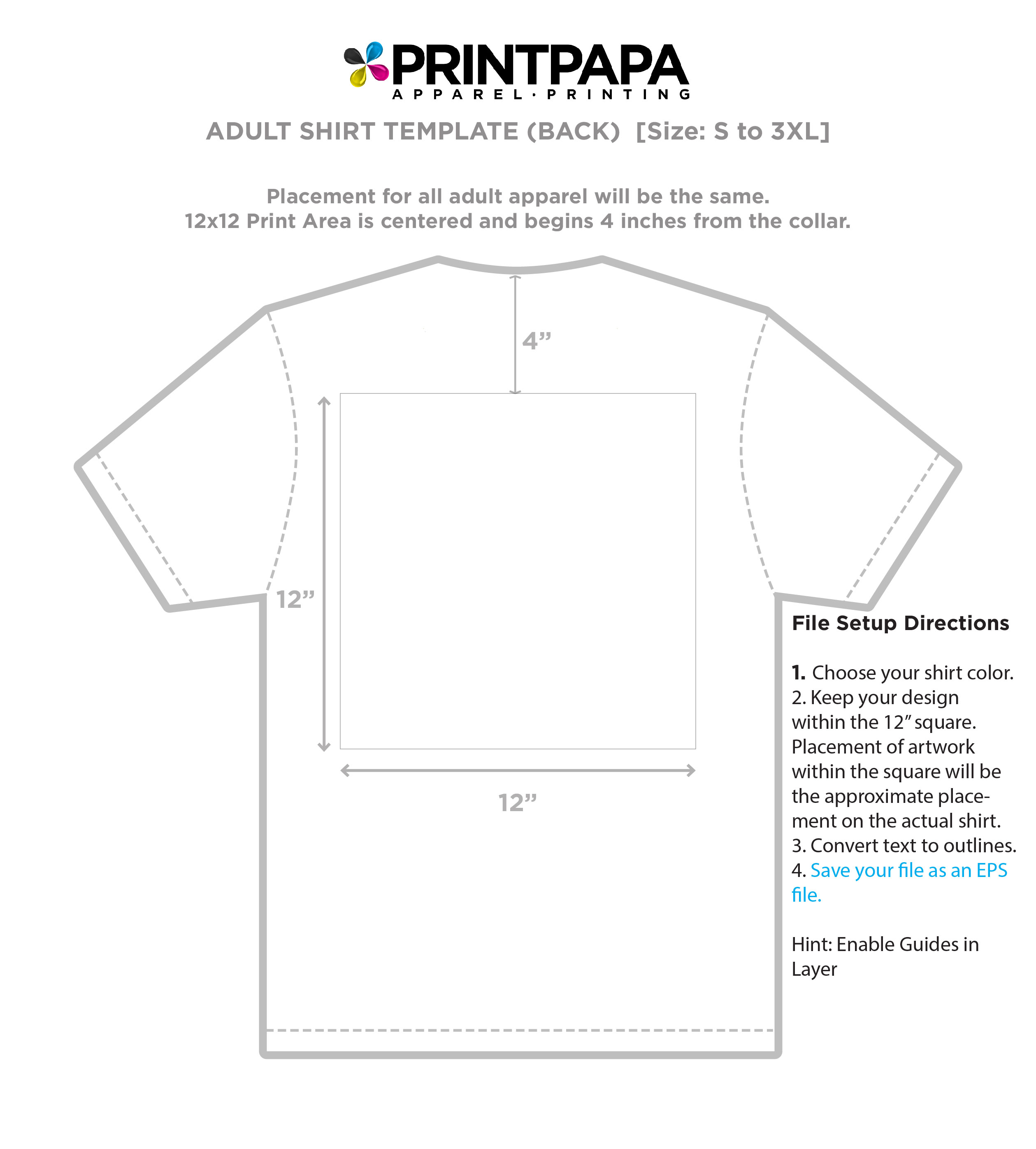 Find A Printing Template Printpapacom - T shirt design size template