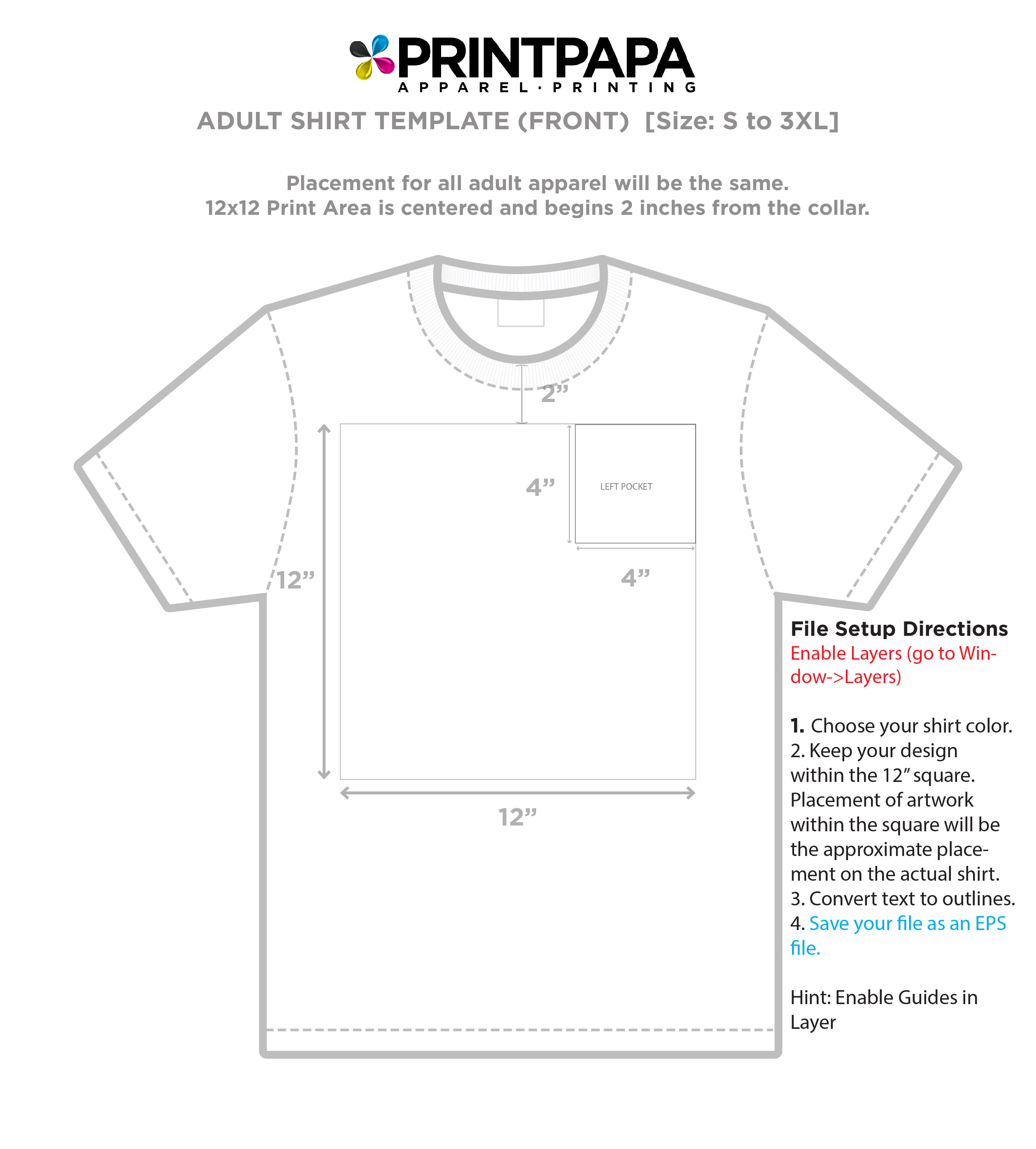 image relating to Printable T Shirt Template named Locate a Printing Template ::