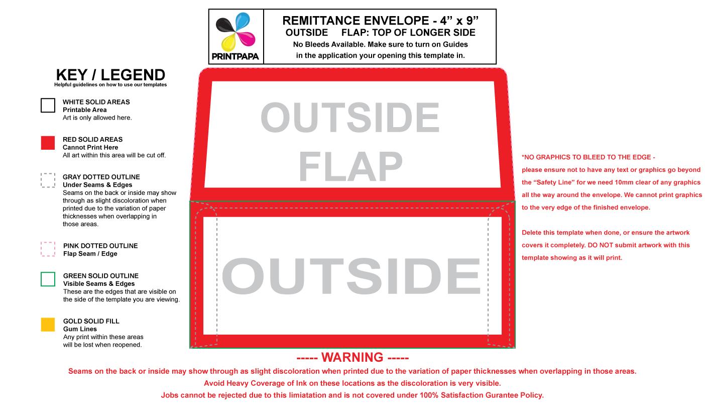 Find a printing template printpapa 796 no 9 remittance envelope maxwellsz