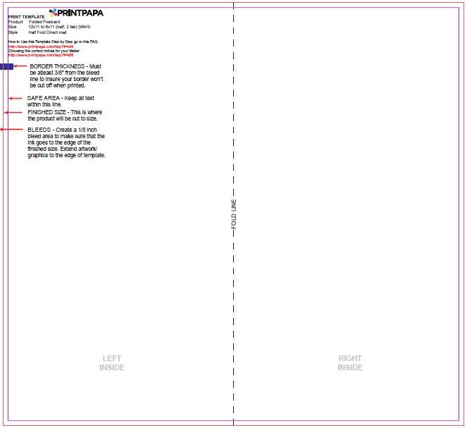 Find A Printing Template Printpapacom - 6x11 postcard template