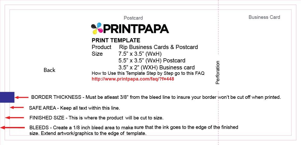 Find a Printing Template :: Printpapa.com