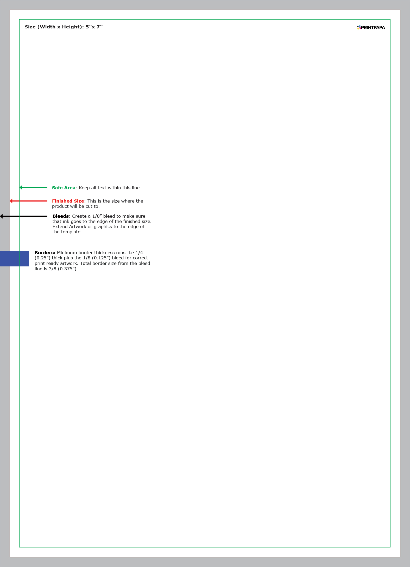 5x7 border template