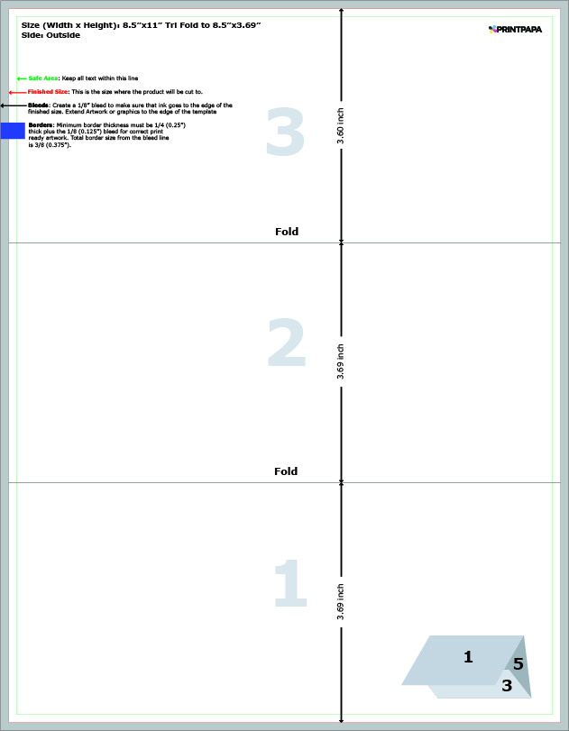 8 5 x 11 trifold template