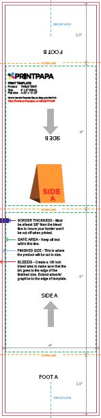 4x6 table tent template find a printing template