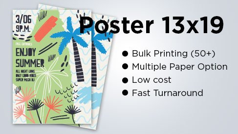 Poster Print Services Fast turnaround Print and mail Free Shipping Wide format print up to 44 on Poster paper /& Canvas print