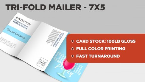 tri fold direct mail postcard 7x15 to 7x5 direct mail folded