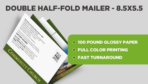 4 page half half fold tabbed mailer 17x11 to to printpapa. Black Bedroom Furniture Sets. Home Design Ideas