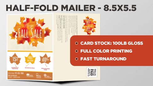 half fold direct mail postcard 8 5x11 to 8 5x5 5 direct mail