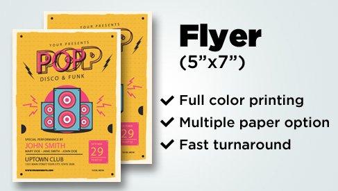 half page flyer 5x7 printing bay area san jose printpapa