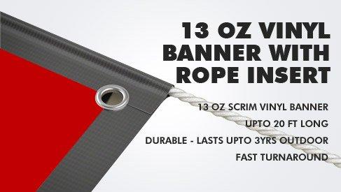 Custom Vinyl Banner With Rope Insert