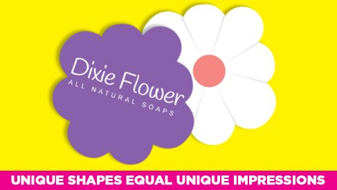 Flower shaped business card printed full color printpapa video colourmoves