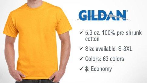 Gildan Heavy Cotton 53 Oz 100 Cotton T Shirt 5000 Printpapa