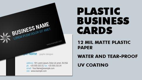 Plastic Business Card 35x2 Inch Standard Us Size Printpapa