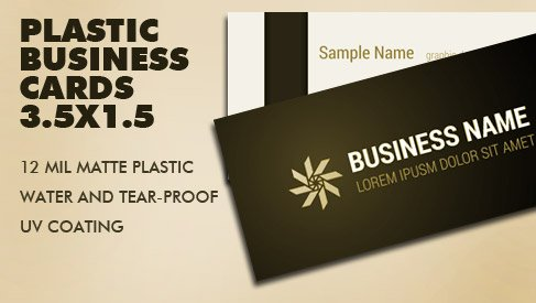 Plastic business card 35x15 inch printpapa printpapa business card sample pack reheart Image collections