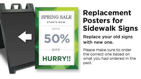 Replacement Posters for Sidewalk Signs - A-Frame & Sidewalk Signs ...